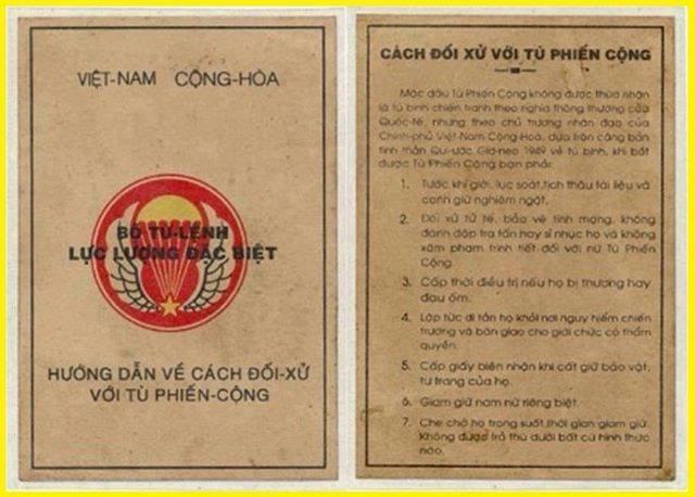 Truyền đơn chiêu hồi của Biệt kích VNCH