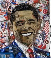 Chân dung Obama được làm từ rác thải